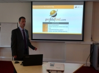 Tadhg Henderson, Profitsflow MD opening the Information Day
