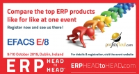 Profitsflow Demonstrating at ERP HeadtoHead Event, Dublin, 9th & 10th October